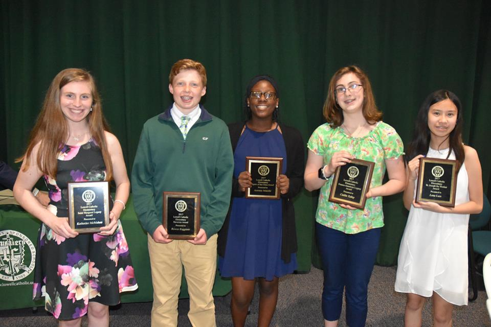 Lowell Catholic 8th-graders Honored